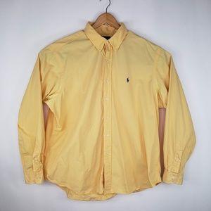 Ralph Lauren Classic Fit Yellow Button Down